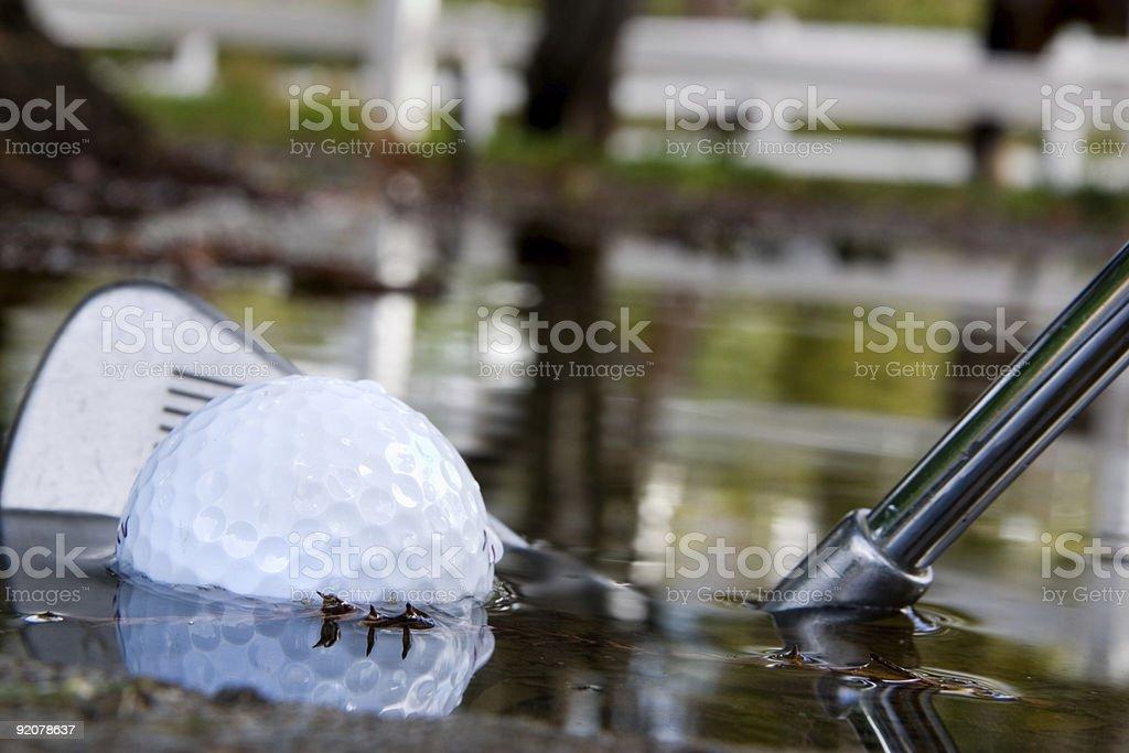 Water Hazard 2 stock photo