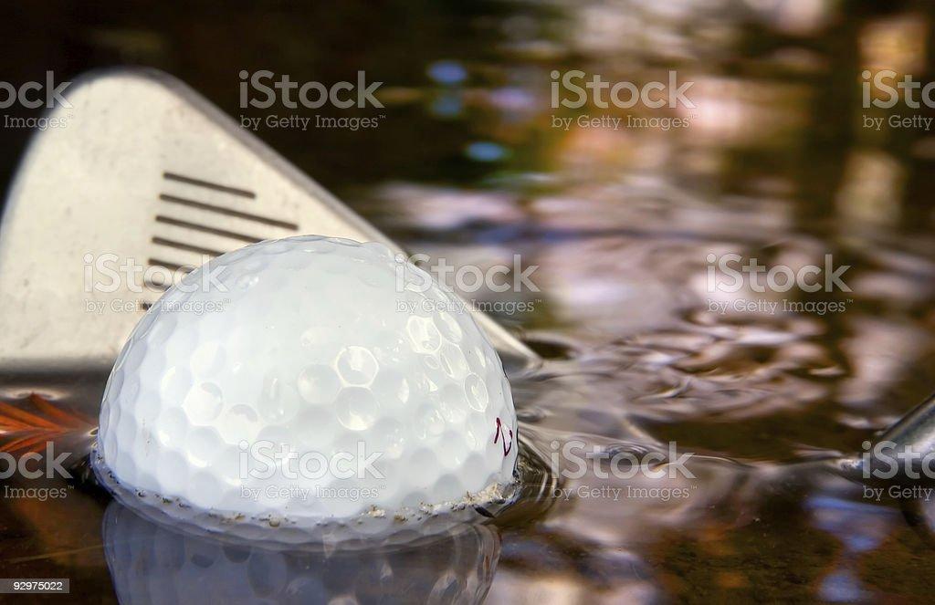 Water Hazard stock photo