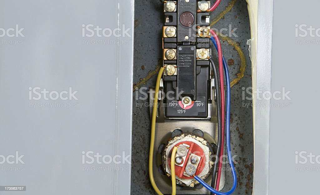 Water Heater Thermostat royalty-free stock photo
