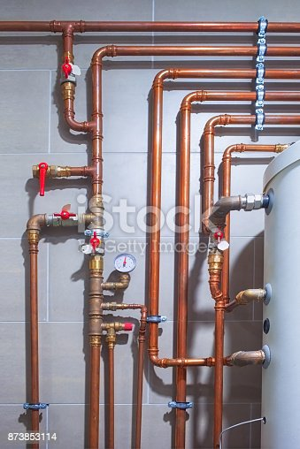 Domestic heating and water supply system