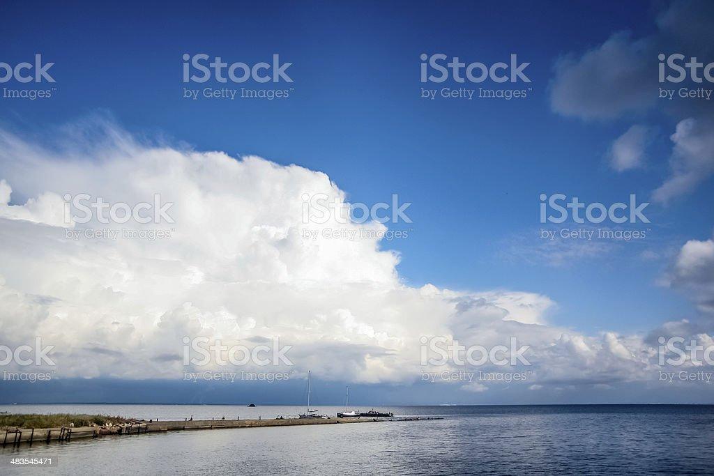 water horizon stock photo