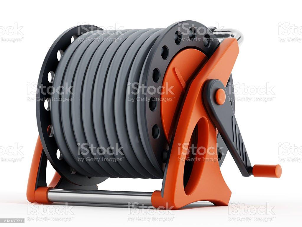 Water hose wheel stock photo