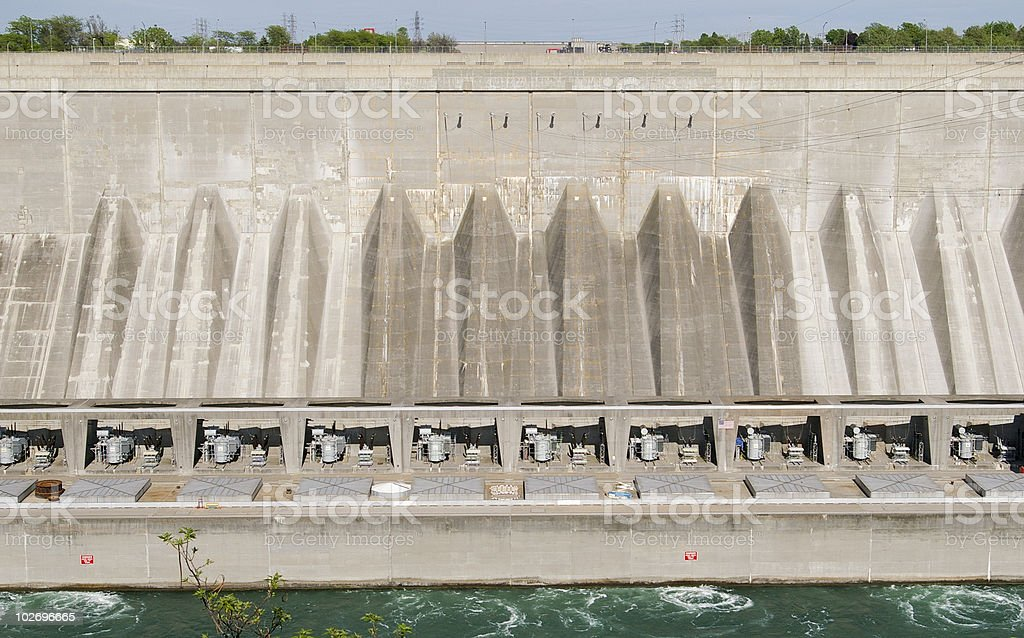 Water Hydro Dam at Niagara Falls royalty-free stock photo