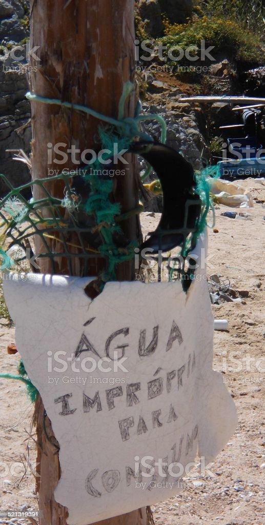Water Improper To Consume Sign stok fotoğrafı
