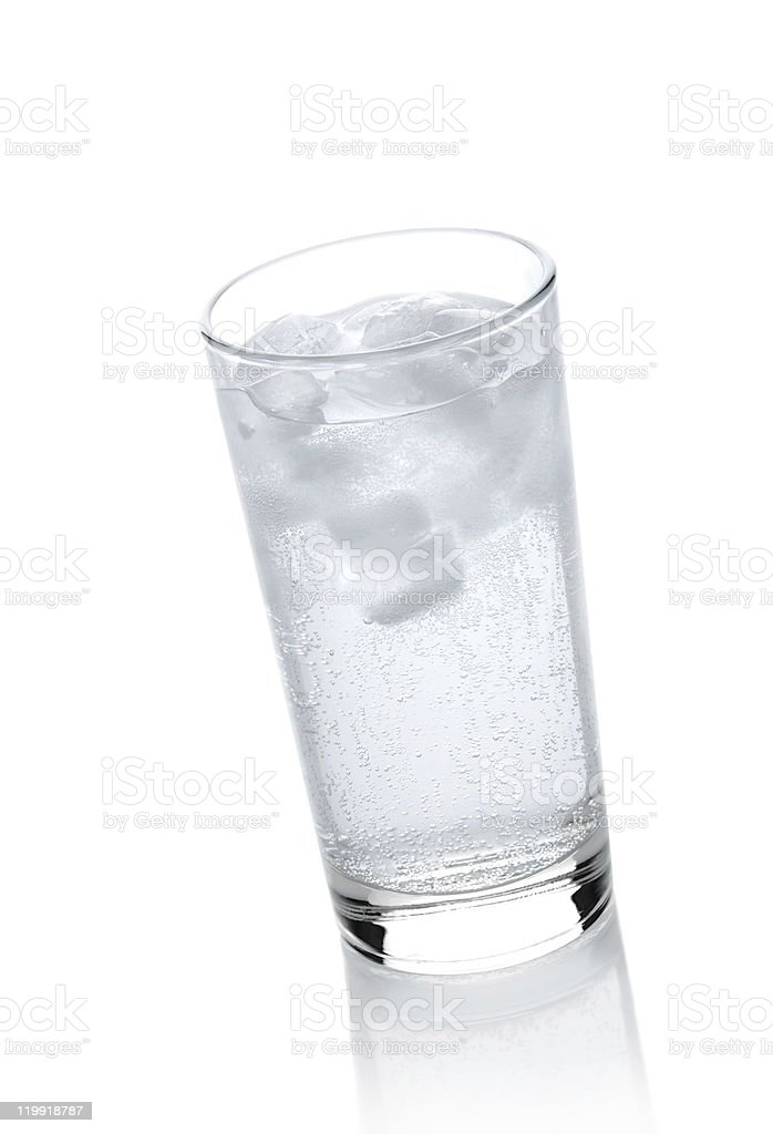 Water in a glass with ice royalty-free stock photo
