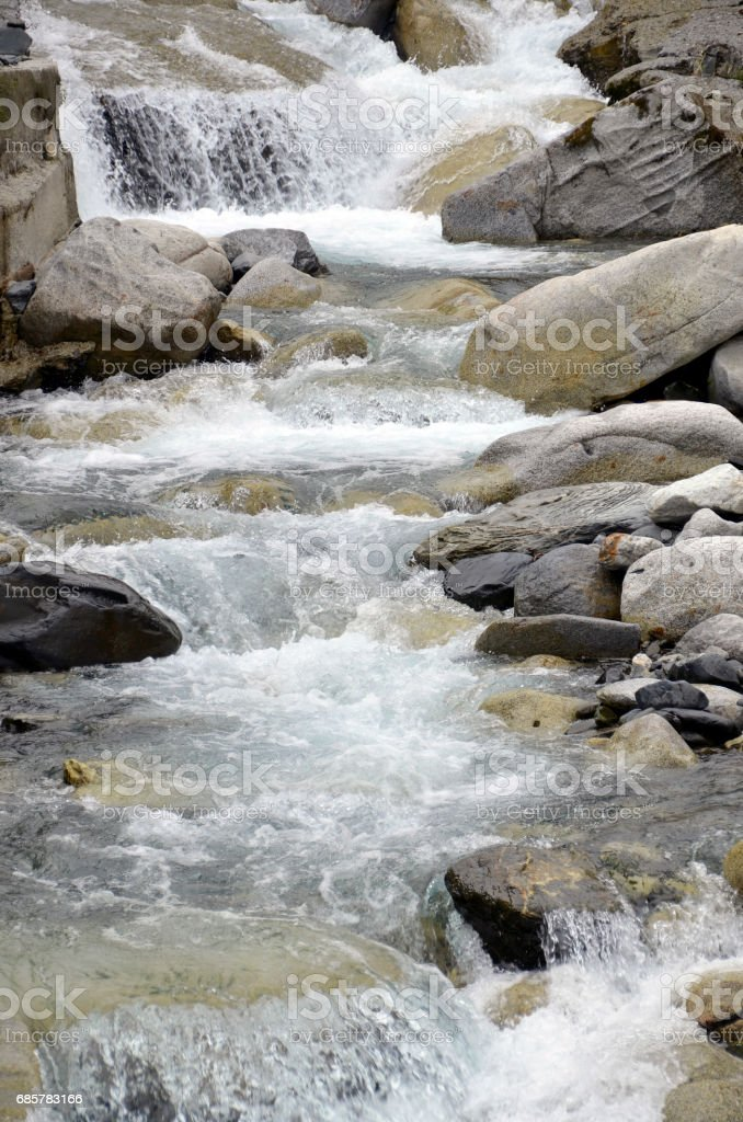 water in a river with rocks royalty-free stock photo