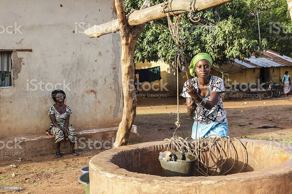 Water in africa stock photo