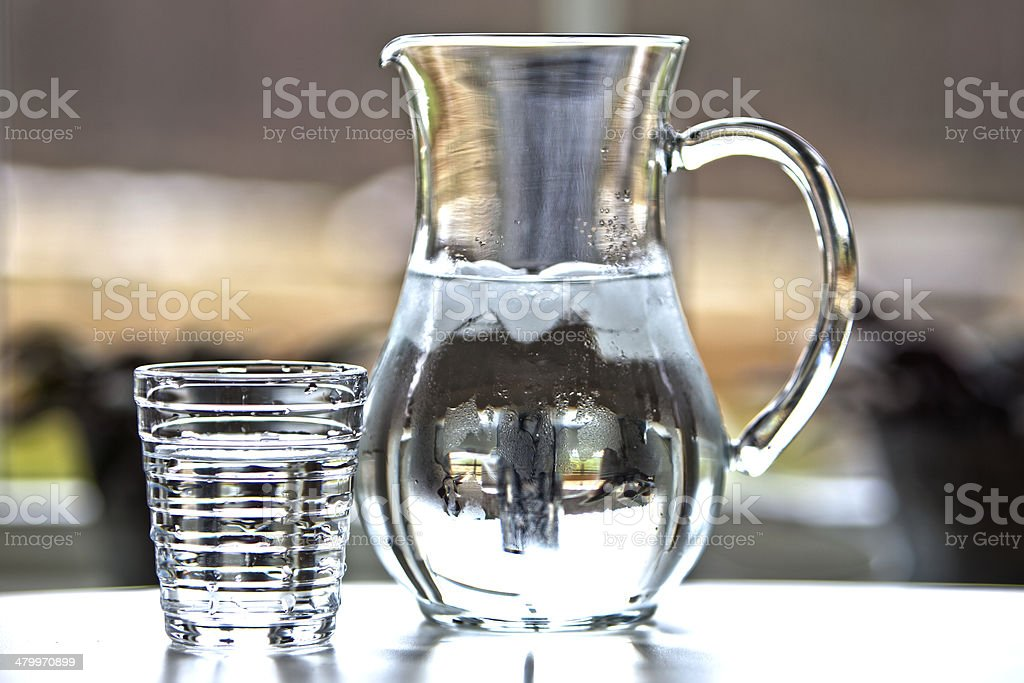 Water in carafe stock photo