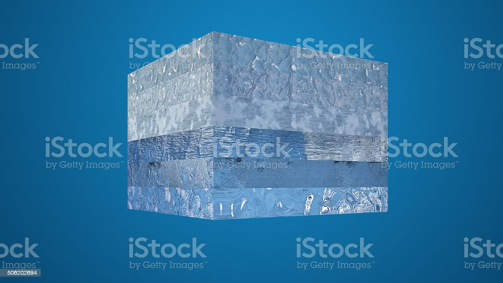 Water in different stages stock photo