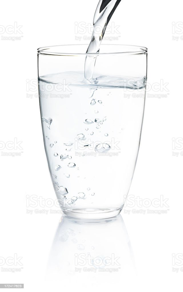 Water in glass stock photo
