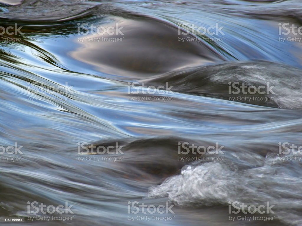 Water in motion stock photo