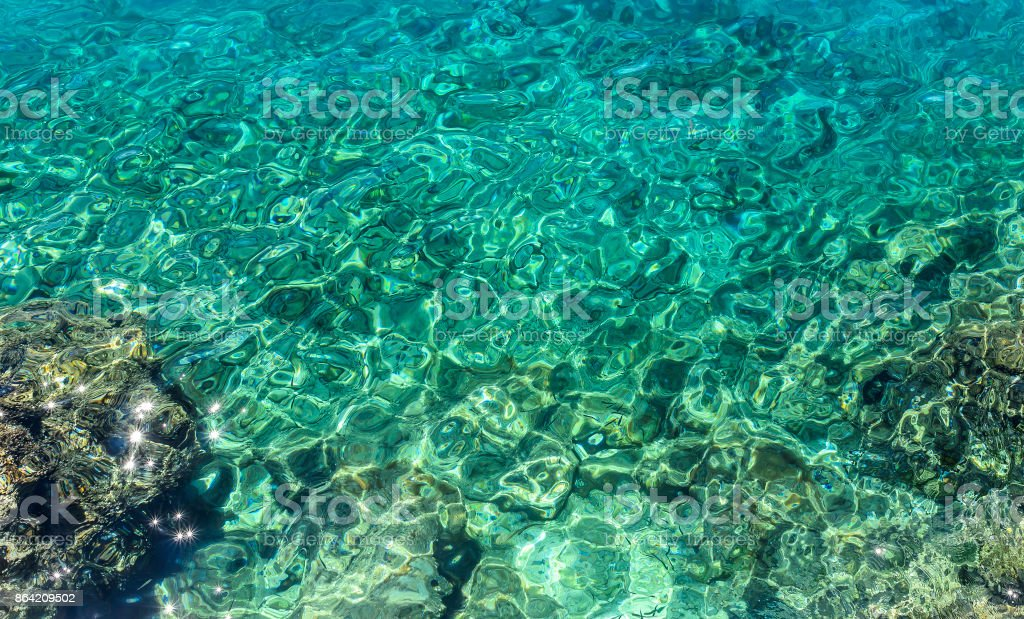 Water in the Adriatic Sea. royalty-free stock photo
