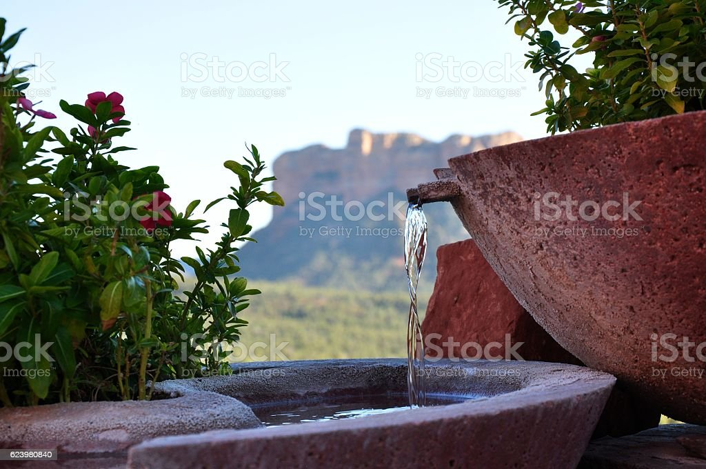 Water in the dessert stock photo