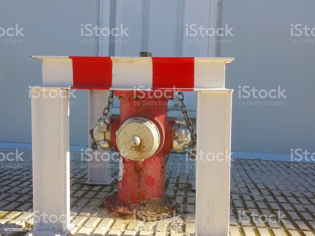 Water intake for firefighters stock photo