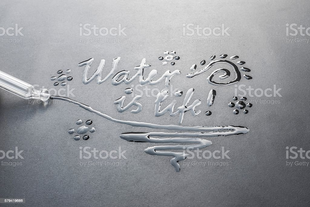 Water is Life - Written with Water stock photo