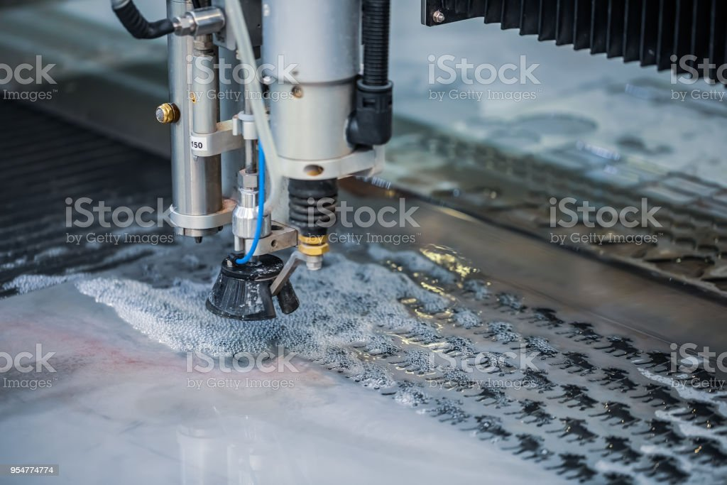 Cnc Water Jet Cutting Machine Stock Photo - Download Image Now - iStock
