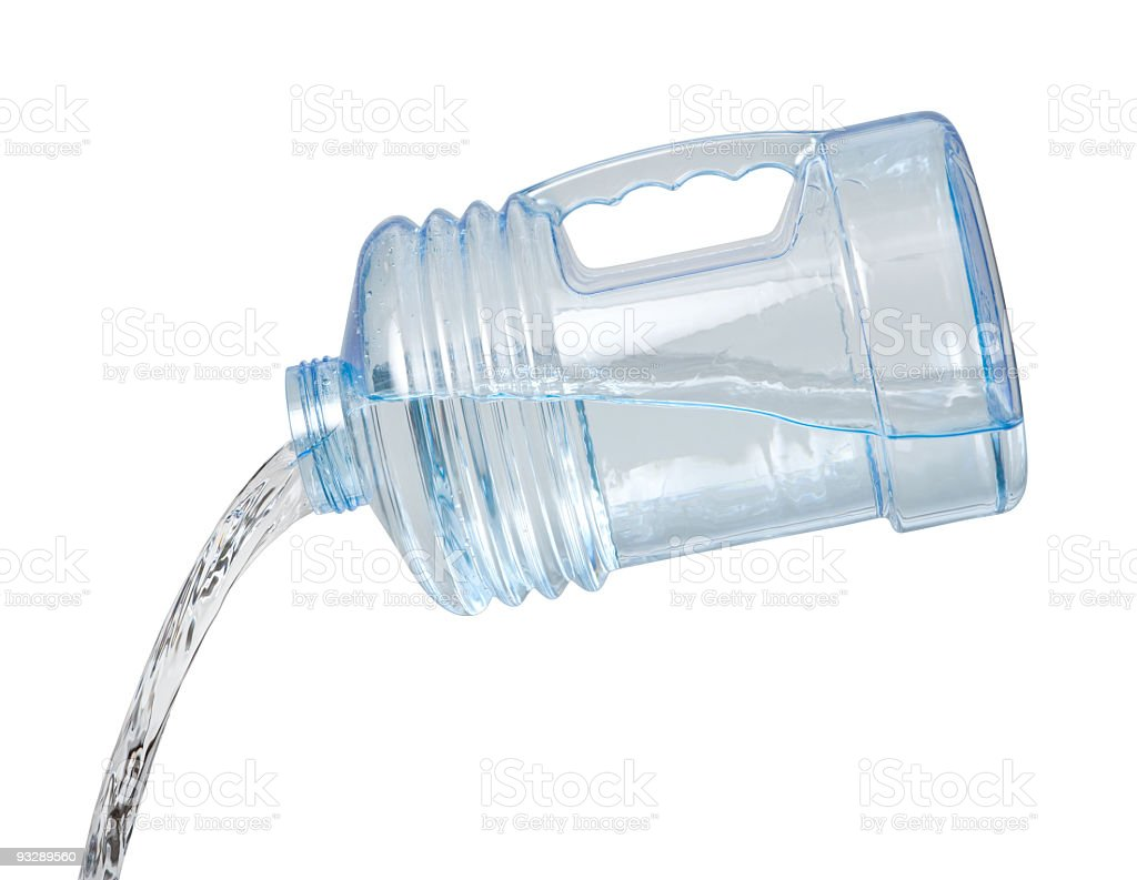 Water Jug Pour royalty-free stock photo