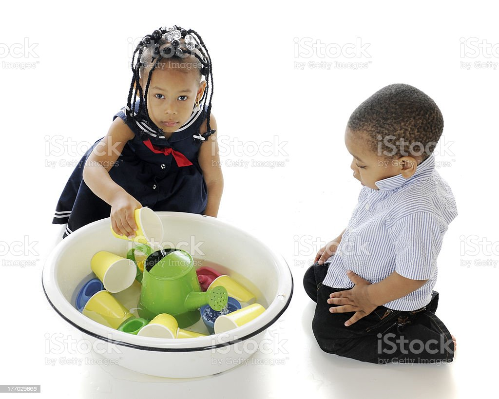 Water, Kids and Toys royalty-free stock photo