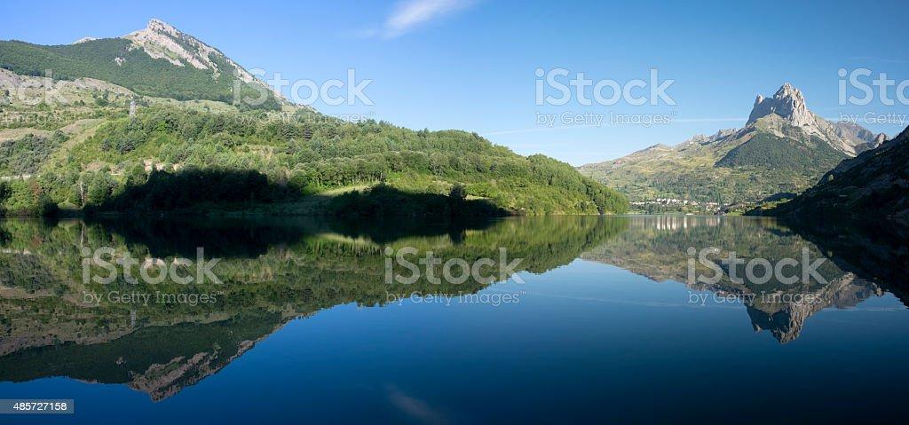water, lake and mountain. stock photo