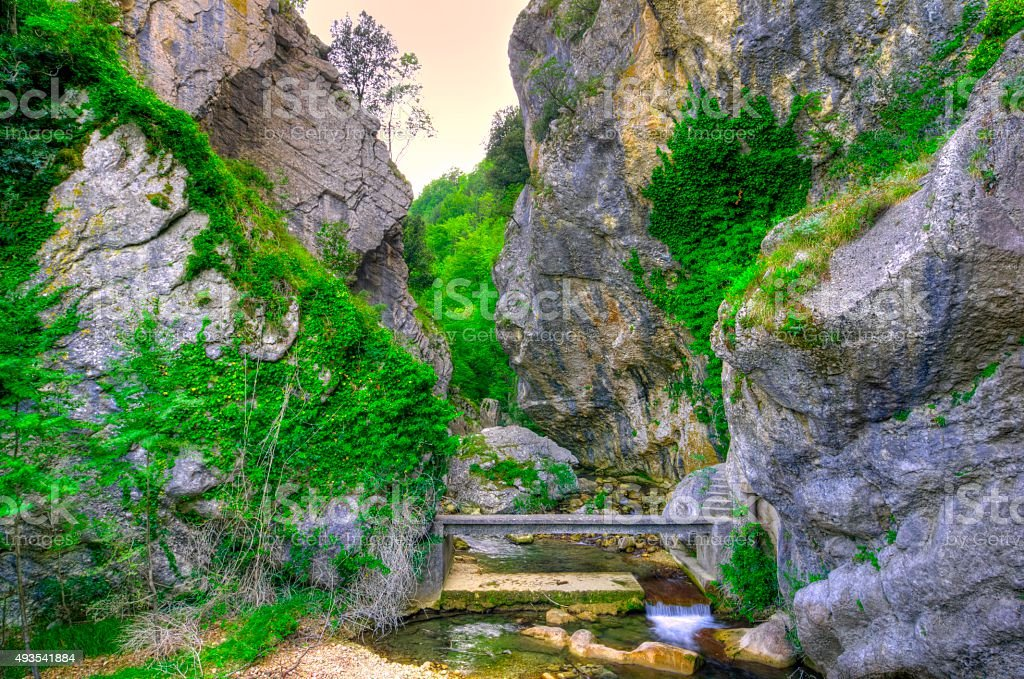 water, landscape, hdr, paesaggio, rock, cascata, stock photo