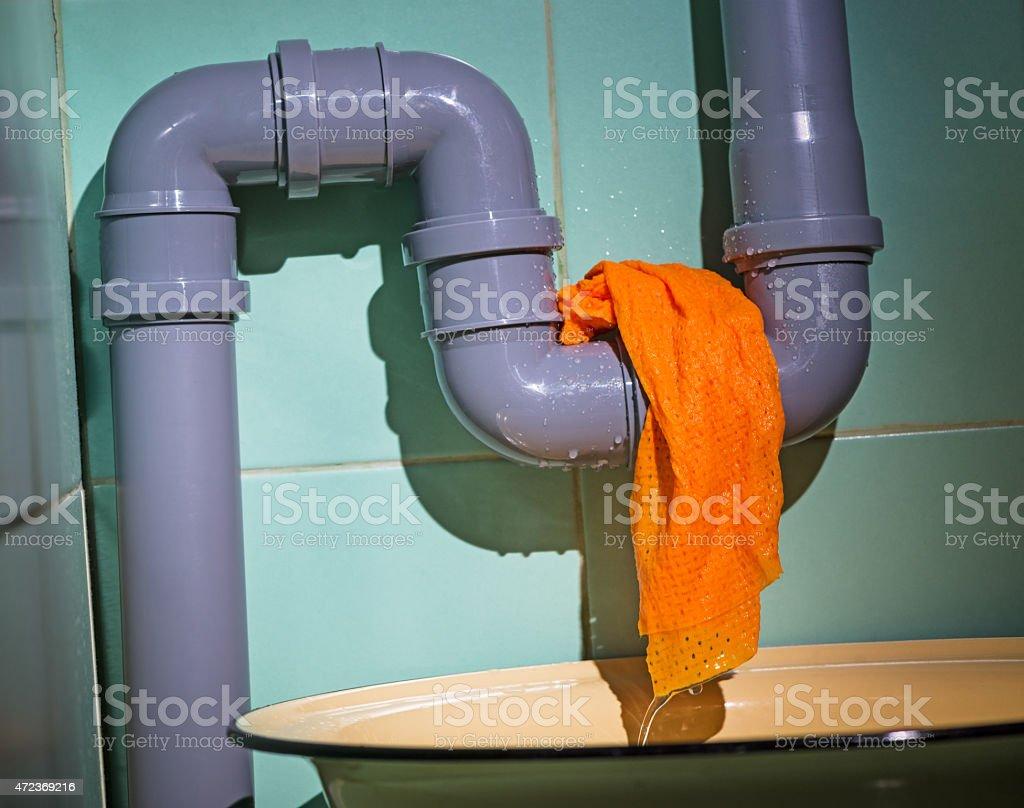 water leak stock photo