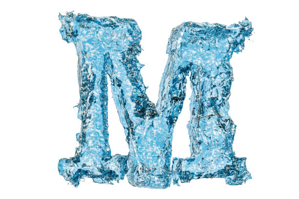 M In Bubble Letters Stock Photos, Pictures & Royalty-Free