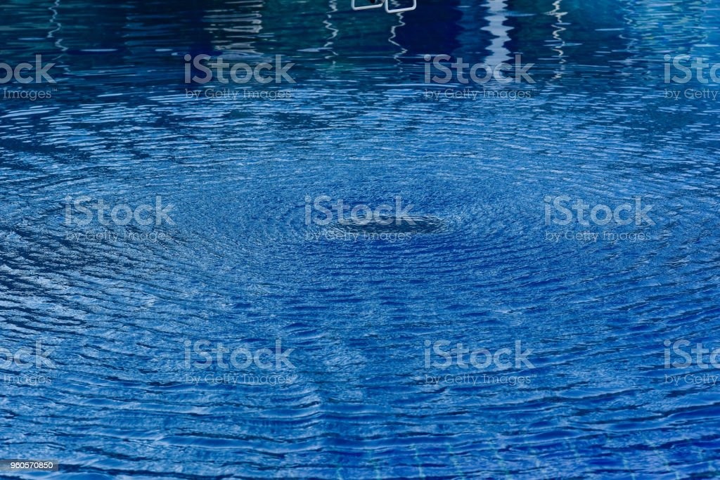 Water Lisp In The Swimming Pool Stock Photo - Download Image