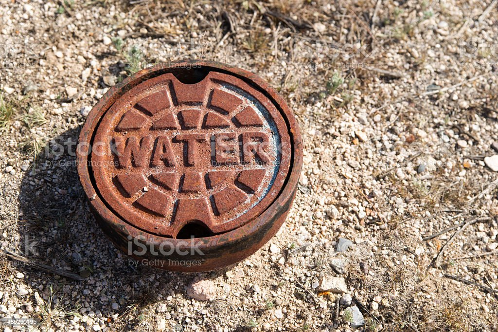 Water Main Cover stock photo