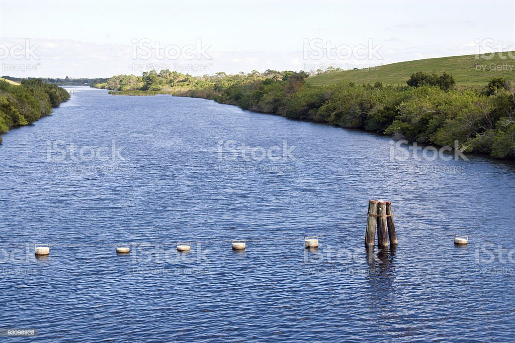 Water Management Canal royalty-free stock photo