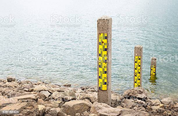 Water Measuring Pole Stock Photo - Download Image Now