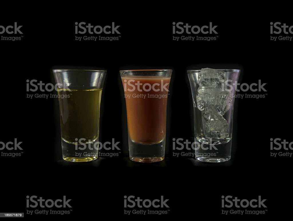 water melon and yellow drink royalty-free stock photo