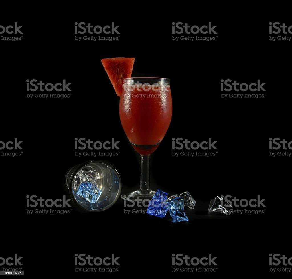 water melon drink in glass royalty-free stock photo