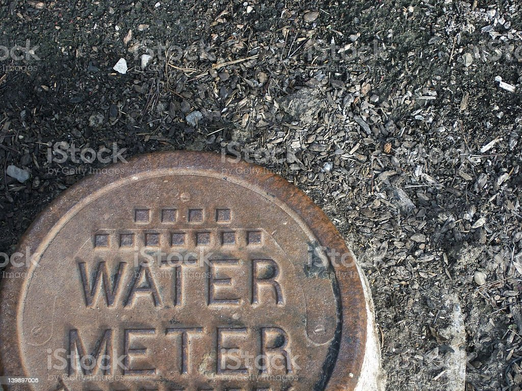 Water Meter Cover stock photo