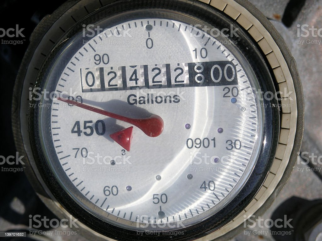 Water Meter Dial stock photo