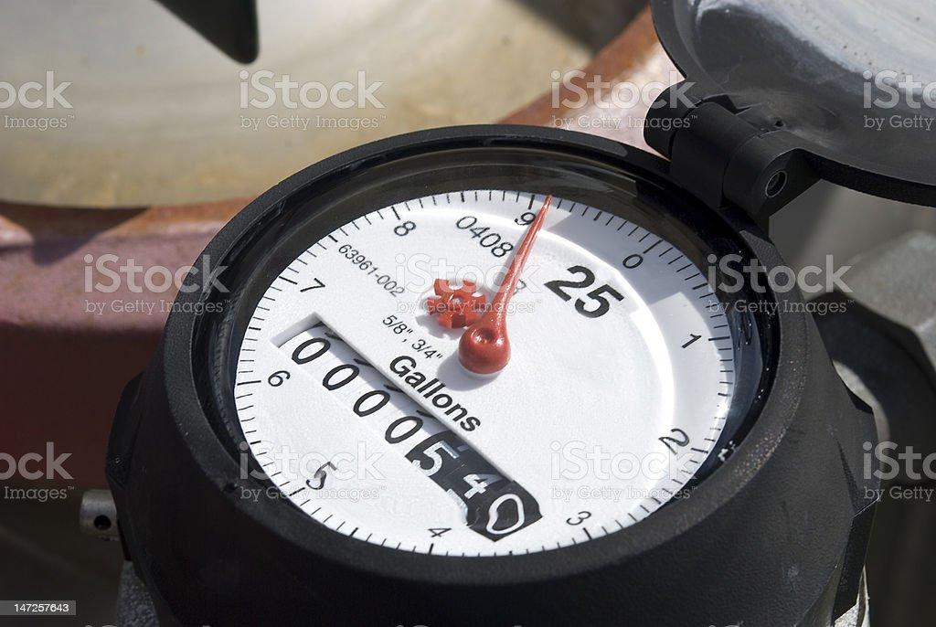 Water Meter Gauge royalty-free stock photo