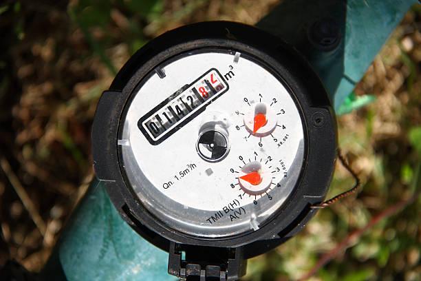 Water meter - gauge stock photo