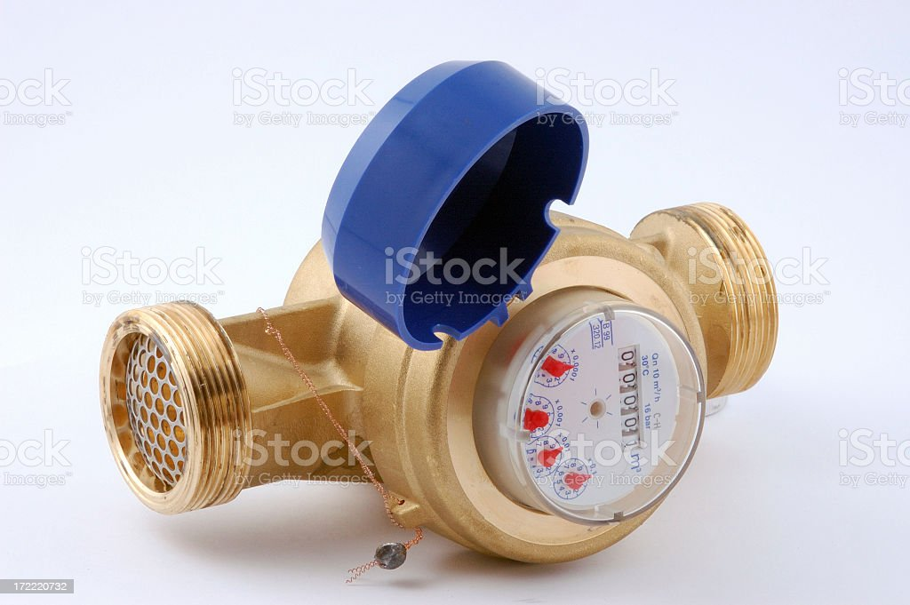 Water meter isolated stock photo