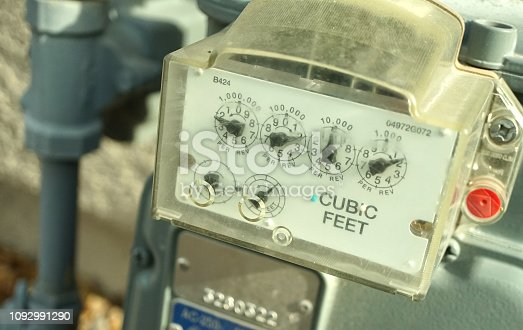 outdoor shot of water meter