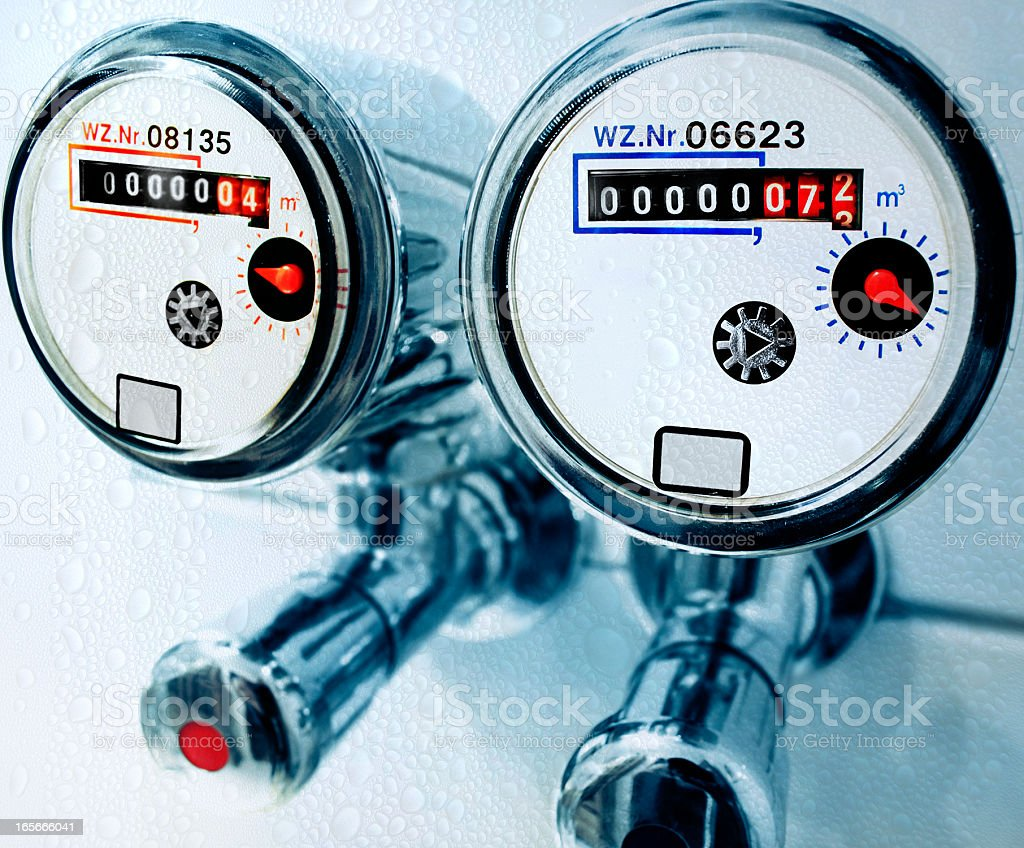 Water meter - Water counter royalty-free stock photo