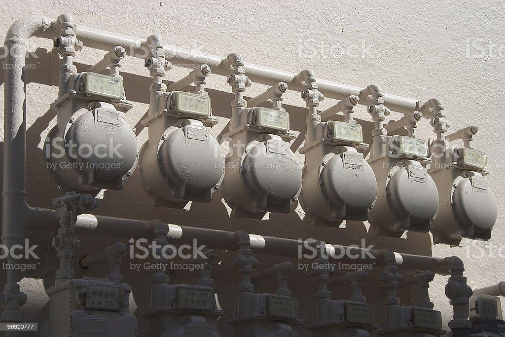 Water Meters royalty-free stock photo