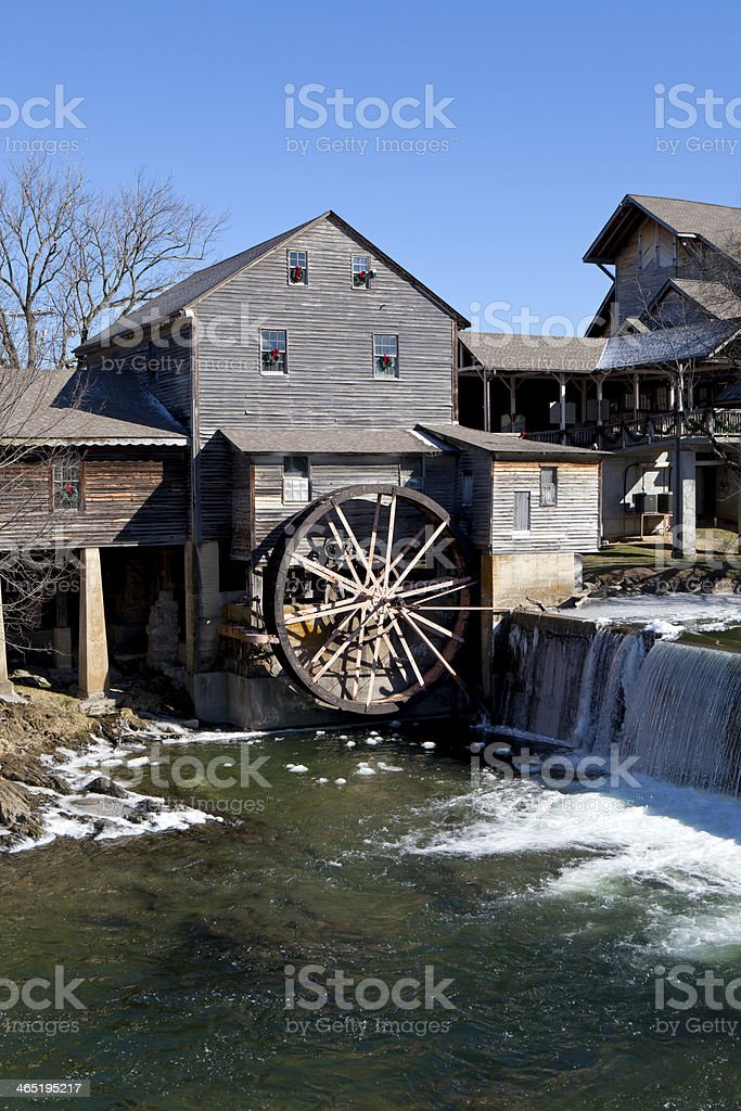 Temperature In Pigeon Forge Tennessee >> Water Mill In Pigeon Forge Tennessee Stock Photo Download Image
