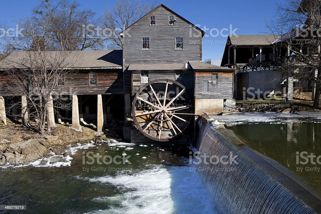 Water Mill in Pigeon Forge, Tennessee stock photo