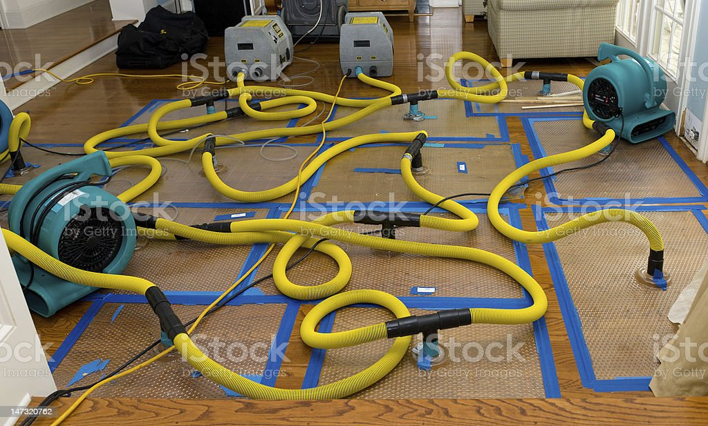 Water mitigation, disaster recovery royalty-free stock photo