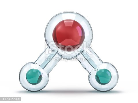 924641300 istock photo Water molecule. Ecology, biology and biochemistry concept. 3D 1173077902