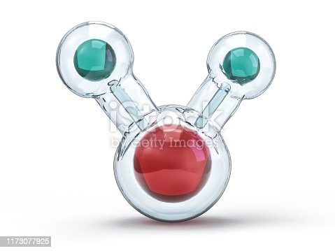 924641300 istock photo Water molecule. Ecology, biology and biochemistry concept. 3D 1173077925