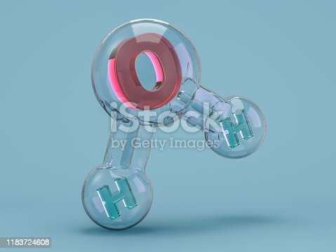 924641300 istock photo Water molecule. Ecology, biology and biochemistry concept. 3D 1183724608