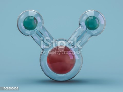 924641300 istock photo Water molecule. Ecology, biology and biochemistry concept. 3D 1208303425