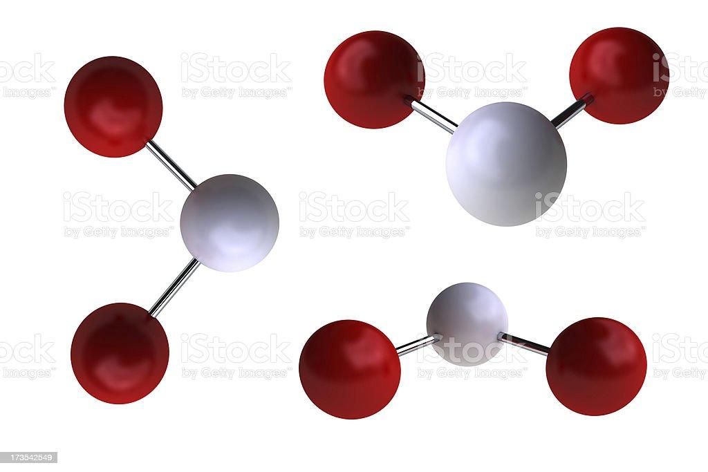 Water molecule royalty-free stock photo