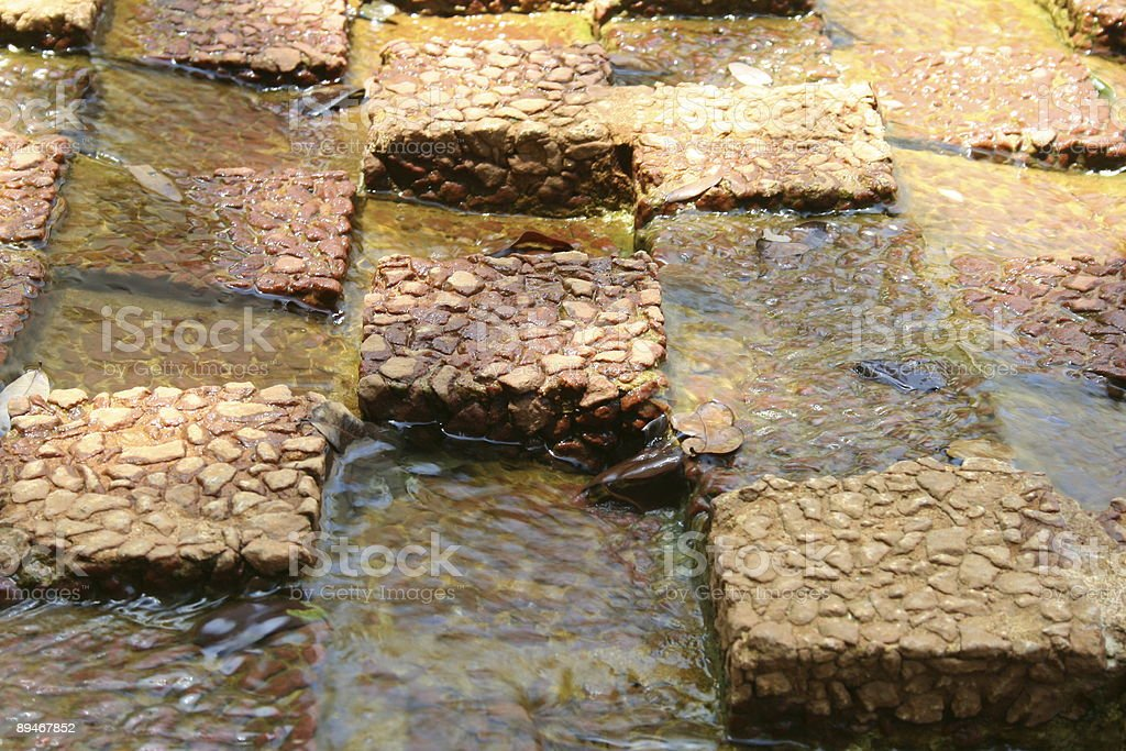 water on and between tiles royalty-free stock photo