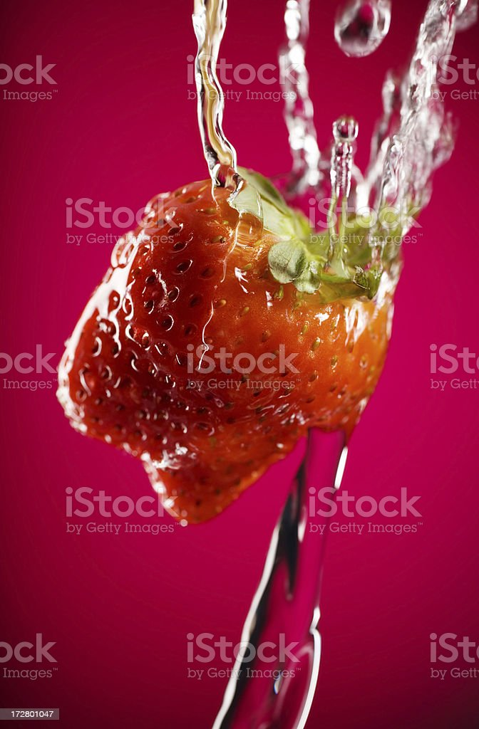 water on berry royalty-free stock photo